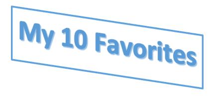 My 10 Favorites image