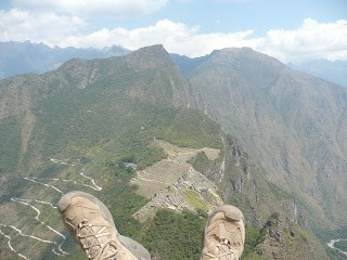 Boots Above Macchu Pichu