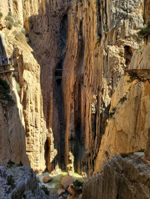 Caminito trail through rock